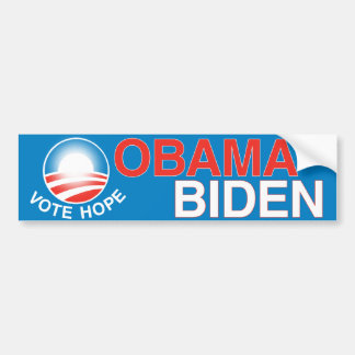 Obama Biden - Vote Hope Bumper Sticker