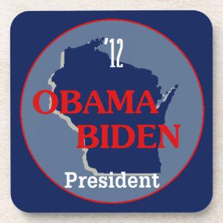 Obama Biden WISCONSIN Beverage Coaster