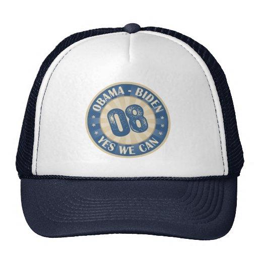 Obama Biden Yes We Can 2008 Hat