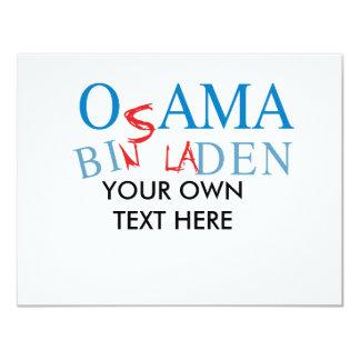 Obama Bin Biden 11 Cm X 14 Cm Invitation Card