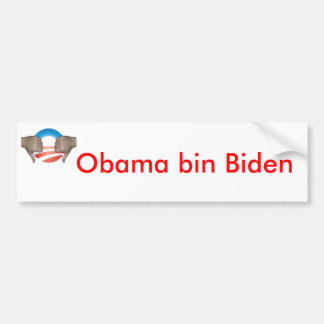 Obama bin Biden Thumbs Down Bumper Sticker