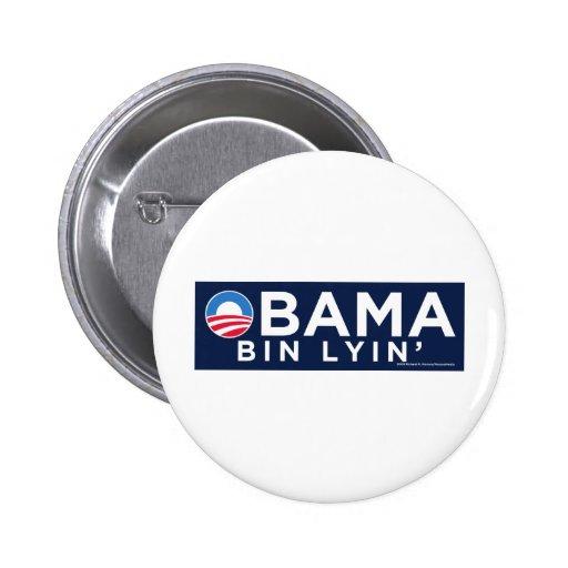 Obama bin Lyin' Pinback Buttons