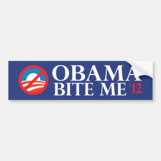obama-bite me 12 bumper sticker