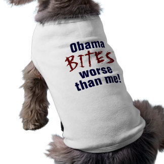 obama bites sleeveless dog shirt