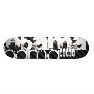 Obama; Black & Dark Gray Stripes 21.6 Cm Old School Skateboard Deck