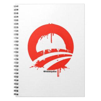 Obama bleeding plain spiral notebooks