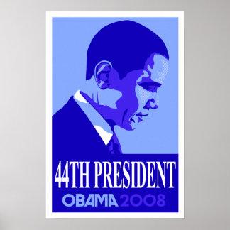 Obama Blue 44th President Poster 3