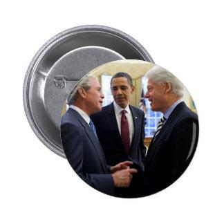 Obama Bush and Clinton 6 Cm Round Badge