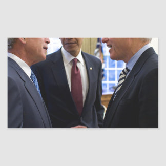 Obama Bush and Clinton Rectangular Sticker