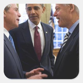 Obama Bush and Clinton Square Sticker