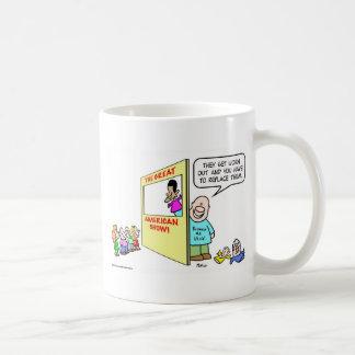 obama bush clinton puppet coffee mug