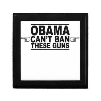 Obama Can't Ban These Guns T-Shirts.png Small Square Gift Box