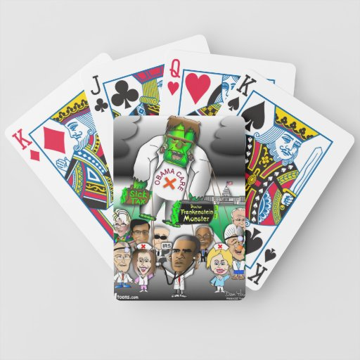 Obama Care Balloon Bicycle Poker Cards