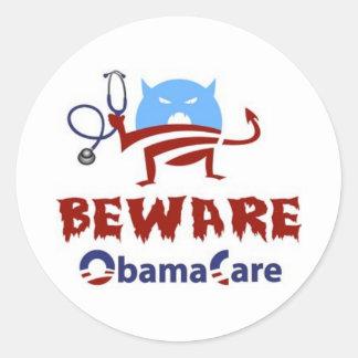 Obama Care democrat republican joker Round Sticker