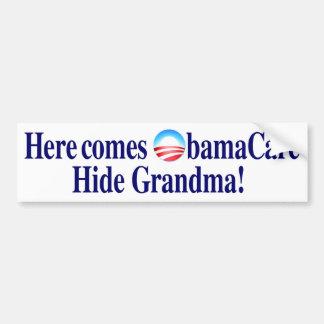 Obama Care Hide Grandma Bumper Sticker