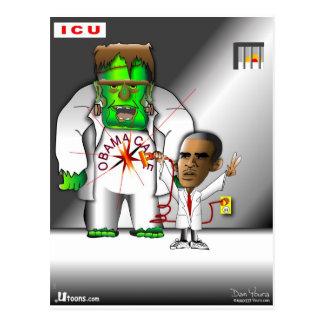 Obama Care in ICU Postcard
