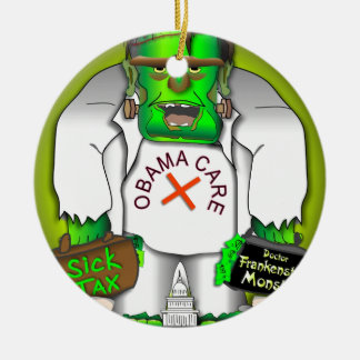 Obama Care Monster Ornaments