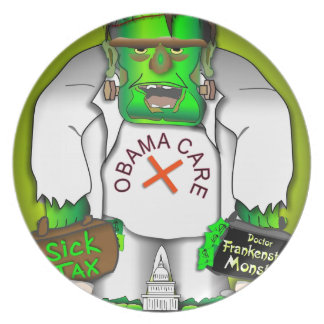 Obama Care Monster Party Plate