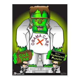 Obama Care Monster Postcard