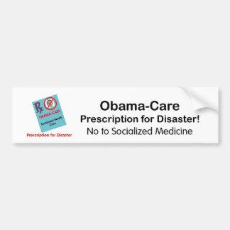 Obama-Care Prescription Car Bumper Sticker