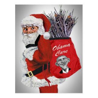 Obama Care Santa Postcard