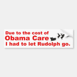 Obama Care Vs Rudolph Car Bumper Sticker