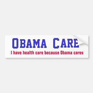 Obama Cares Car Bumper Sticker