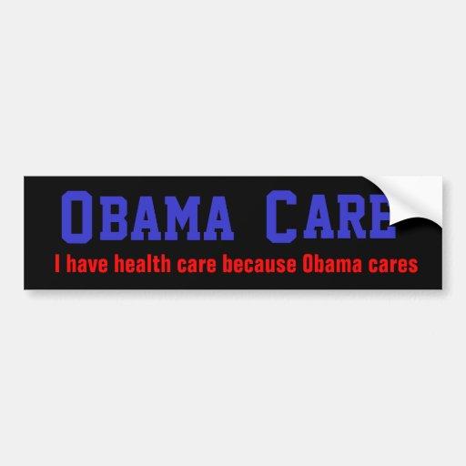 Obama Cares (dark) Bumper Sticker