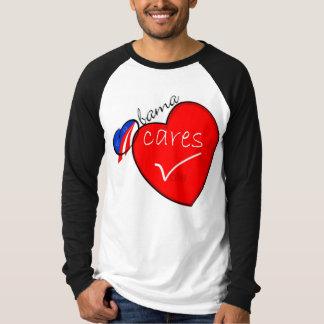 Obama Cares - Long sleeve T-Shirt