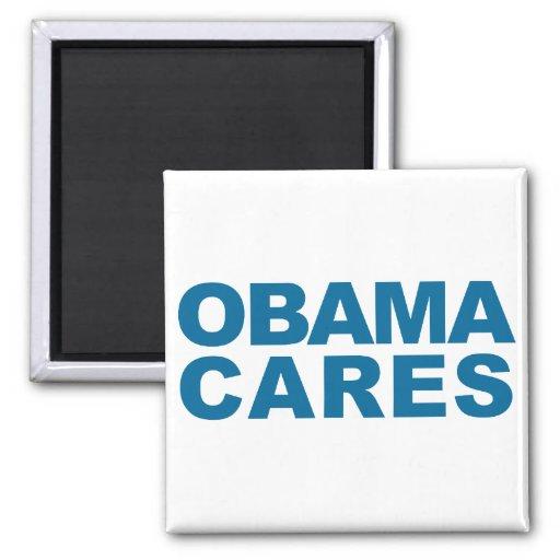 Obama Cares Fridge Magnets