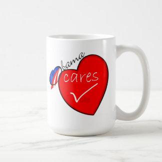 Obama cares mug