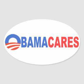 Obama Cares Oval Sticker