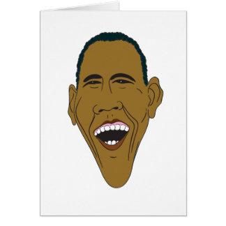 Obama Caricature Card