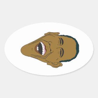 Obama Caricature Oval Sticker