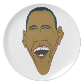 Obama Caricature Plate
