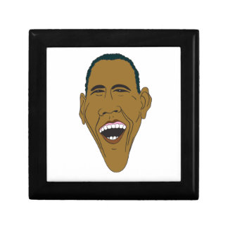 Obama Caricature Small Square Gift Box