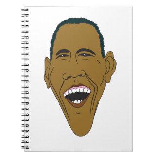 Obama Caricature Spiral Notebook