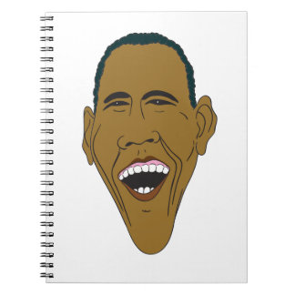 Obama Caricature Spiral Notebooks