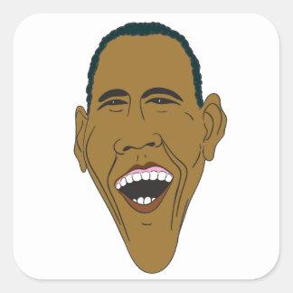 Obama Caricature Square Sticker