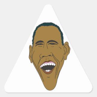 Obama Caricature Triangle Sticker