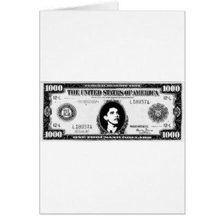 Obama Cash Greeting Card