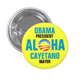 OBAMA/CAYETANO 2012 3 CM ROUND BADGE