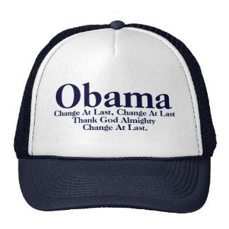 Obama - Change At Last Hat -MLK