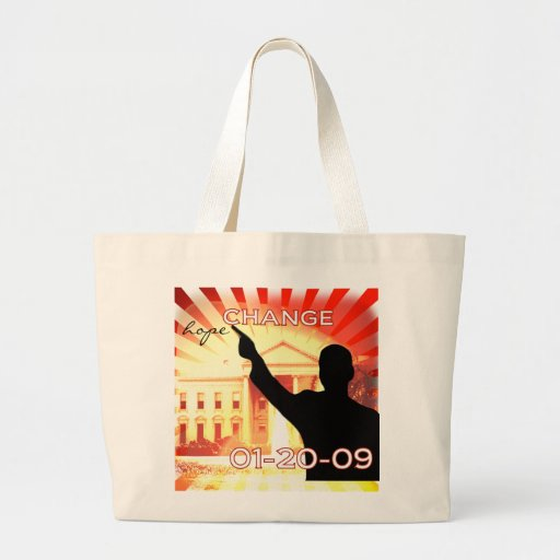Obama Change Canvas Bags