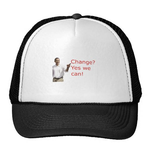 Obama Change Yes We Can Hat