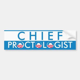 Obama Chief Proctologist Bumper Sticker