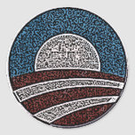 Obama Circle Round Sticker