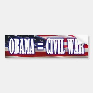 Obama = Civil War Bumper Sticker
