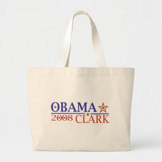 Obama Clark 08 Jumbo Tote Bag
