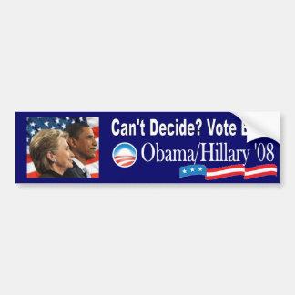 Obama/Clinton '08 Bumper Sticker